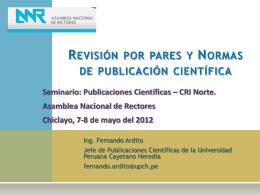 Revisión por pares y normas de publicación