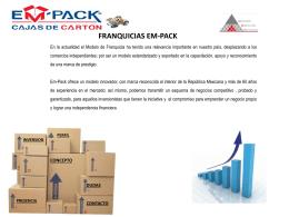 Franquicias Em-Pack, un negocio altamente rentable…