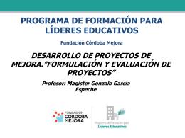 Diapositiva 1 - Fundación Córdoba Mejora