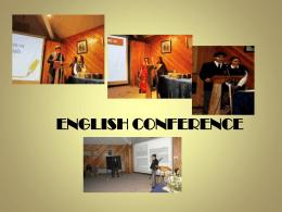 Conferencia ingles