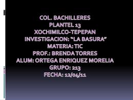LA BASURA - Deportescb13