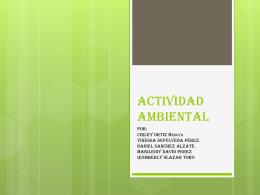 Actividad ambiental