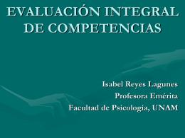 EVALUACIÓN INTEGRAL DE COMPETENCIAS