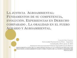La justicia Agroambiental