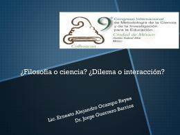 PPT29 - Asociación Mexicana de Metodología de la Ciencia y