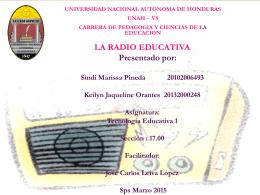 RADIO EDUCATIVA - TECNOLOGIA EDUCATIVA I