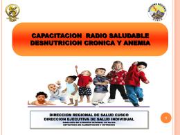 Taller LRS 2014, Cusco (RCR) – Desnutricion