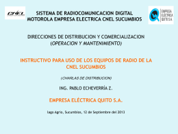 INSTRUCTIVO DE USO DE EQUIPOS DE RADIO