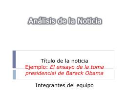 Formato PP análisis de noticia ejemplo