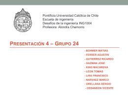 Presentación 4 * Grupo 24 - Pontificia Universidad Católica de Chile
