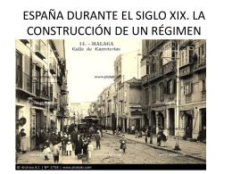 ESPAÑA DURANTE EL SIGLO XIX