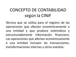 CONCEPTO DE CONTABILIDAD según la CINIF
