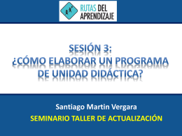 Unidad de Aprendizaje - wiki Santa Maria Reina