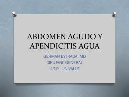 ABDOMEN AGUDO (GENERALIDADES)