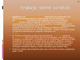 scratch.