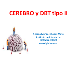 Cognición y Depresión Diabetes II 2014