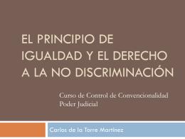 Principio de Igualdad y no discriminación