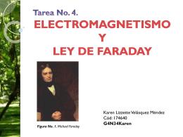 Tarea No. 4. ELECTROMAGNETISMO Y LEY DE FARADAY