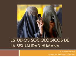 ESTUDIOS SOCIOLÓGICOS DE LA SEXUALIDAD HUMANA