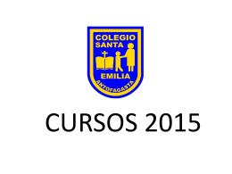 Cursos 2015 - Colegio Santa Emilia