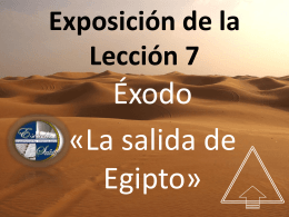 Lección 7 Egipto - Soldados de la Cruz de Cristo