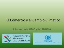 El Comercio y el Cambio Climático