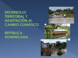 desarrollo territorial y adaptación al cambio climático