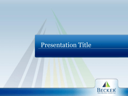 PRESENTATION TITLE - DeVry Education Group