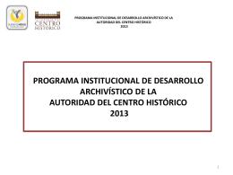 programa institucional de desarrollo archivístico de la autoridad del
