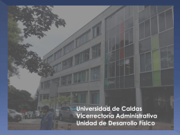 Diapositiva 1 - Universidad de Caldas