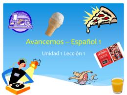 Avancemos * Español 1
