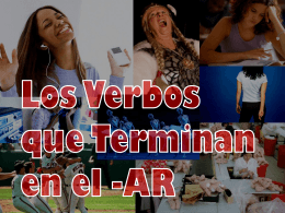 AR Verb Intro updated fall to include avancemos