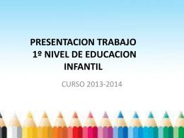 PRESENTACION TRABAJO DE 1º NIVEL DE EDUCACION INFANTIL