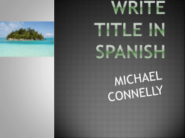travel project write title in spanish