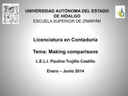 Making comparisons - Universidad Autónoma del Estado de Hidalgo