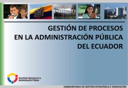 Gestión por procesos Sector Publico Ecuador MEJORA