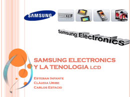 SAMSUNG ELECTRONICS Y LA TENOLOGIA lcd