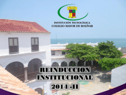 Reinduccion institucional 2014-II