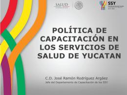 Política de Capacitación en los Servicios de Salud de Yucatán