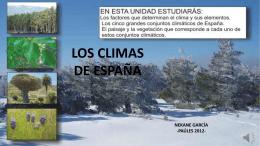 Los climas de España (Nekane García)