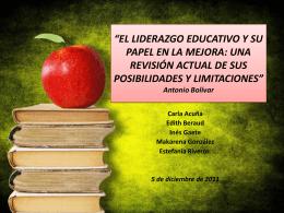EL LIDERAZGO EDUCATIVO Y SU PAPEL EN LA