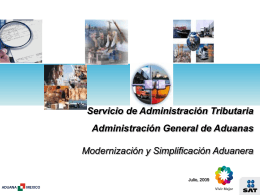 Modernización y Simplificación Aduanera