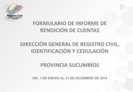 SUCUMBÍOS Informe Final