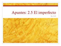 Apuntes: 2.5 El imperfecto - LexSpanish1-2
