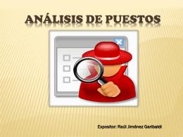 análisis del puesto de trabajo