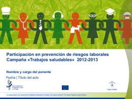 Trabajos saludables» 2012