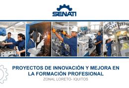 Presentación diapositiva Proyectos de Innovación y Mejora