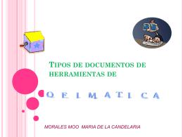 Tipos de documentos de herramientas de