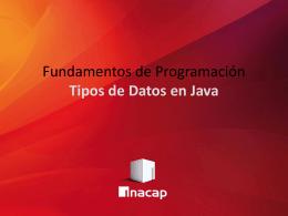 Oficial 05 - Tipos de Datos en Java