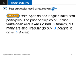 past participle1